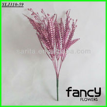 christmas decorations 7 heads pink artificial leaves glitter leaves