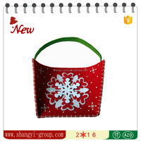 XM9-10 Stylish high end christmas snowflake gift bag decorations