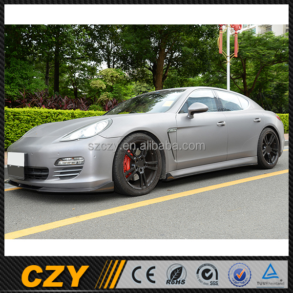 Styling Racing Carbon Fiber Side Skirt Lip For Porsch e Panamera S 09-11