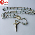 8mm Factory directly christian gifts glass bead rosary center piece