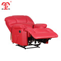 Modern waist heated function red leather recliner sofa with massage