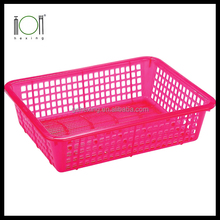 Plastic Colorful Rectangle Basket
