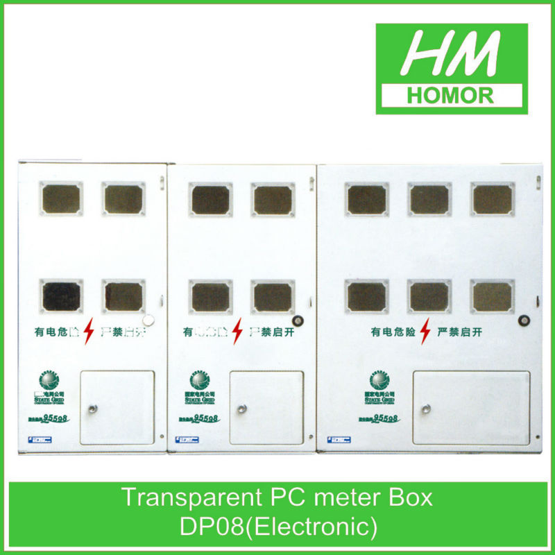 Electric fireproof three-phase combined kwh meter box