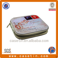 China OEM rectangle CD DVD custom zipper case