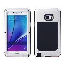 For Samsung galaxy note 5 case metal silicon phone cover