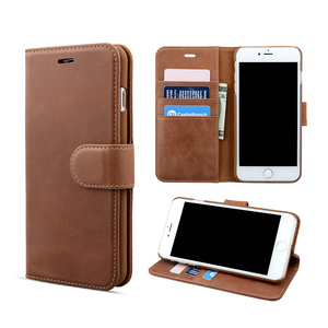 Noble wallet stand card holder leather mobile phone case for iPhone 8 plus