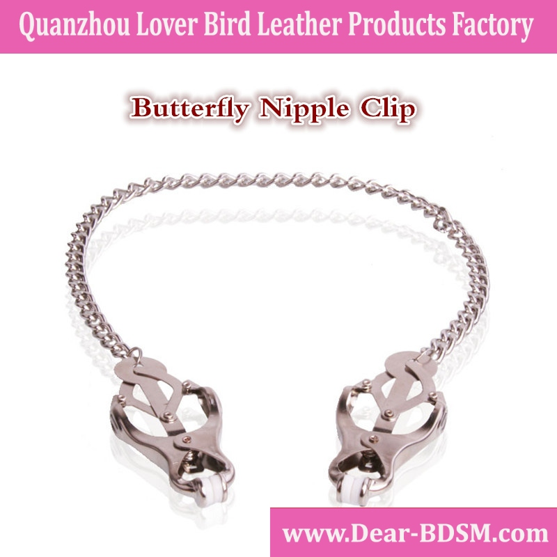 Butterfly Bosom Nipple Clamps quality metal Sexy bondage restraint toys chain nipple sucker sex toys for women adult sex product