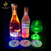 Club Bar LED Cup Mat LED bottle stickers Flashing Coaster light bulb bottle cup mat for party club gift