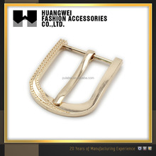 Wholesale metal 30mm pin belt buckles with clip for women