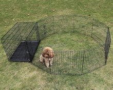 8 Panel portable indoor outdoor dog fencing with cage