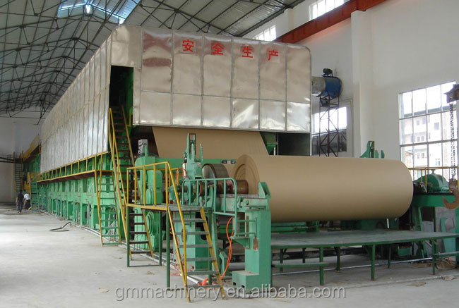 Hot selling kraft paper making machine, 30 T/D, waste paper, bagasse, wood, bamboo, rice straw