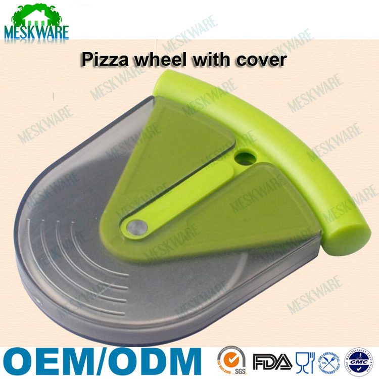 Multifunctional blade slicer plastic round pizza cutter wheel for cake, home, kitchen tool