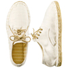 Lace up summer espadrille flat handmade jute sole white canvas shoes wholesale