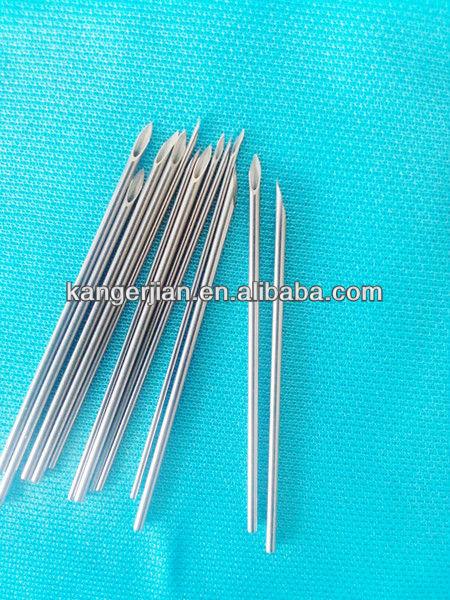 Disposable stainless steel injection needles