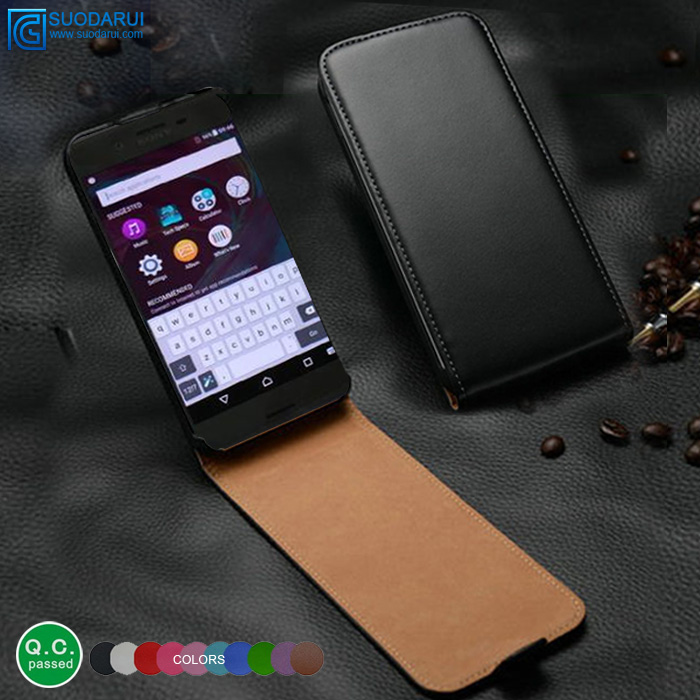 Pu leather case For Sony Xperia X slim leather flip case customized phone case