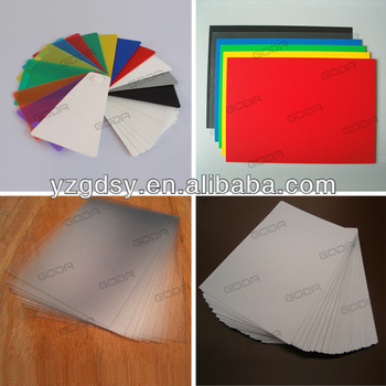 all kinds of colorful rigid matt PVC sheets for offset printing