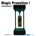 Rotating magnetic levitation whisky flexible led display rack
