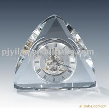 fashion table crystal mechanical clock