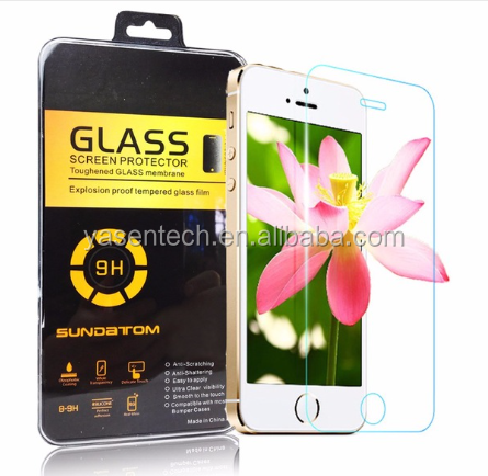 High light transparency 0.26mm 2.5D tempered glass screen protector for iPhone 6 4.7inch