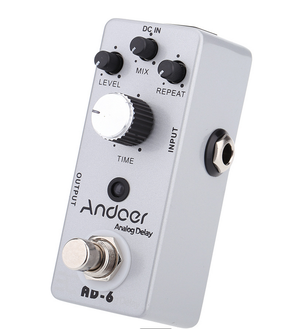 Guitar Accessory Portable Durable Andoer TC-31 AD-6 Analog Delay Guitar Effect Pedal True Bypass 4 Adjustable Knobs