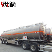 3 Axle Aluminium alloy 45000 liters Oil Fuel Tank Semi Trailer