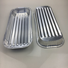 OEM High quality microwave oven safe 1950ml disposable aluminum foil food tray