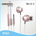 New Arrival Five Color for option Metal Earbuds Wenda R410