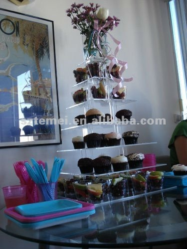 creative clear acrylic cupcake display holder