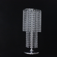 60CM silver table top chandelier pillar stand Crystal Candelabra of wedding centerpiece decoration for stage
