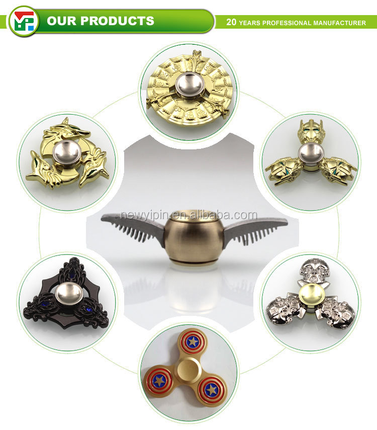 2017 hot style metal permainan fidget hand spinner with custom logo