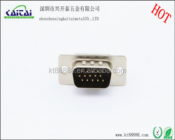 D-SUB hot 15pin vga black male head connector