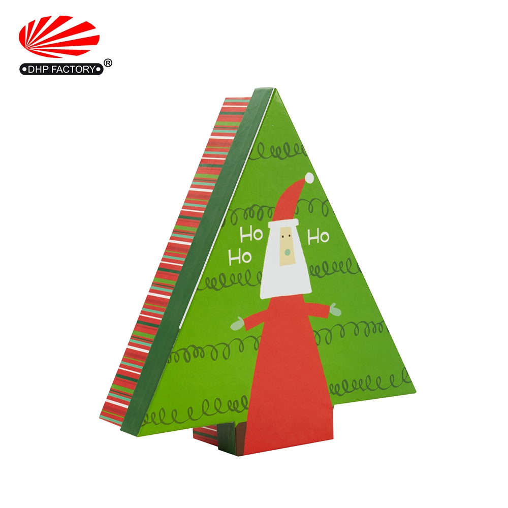 Decorative Tree Shape Custom Paper Gift Christmas Box For Chocolate