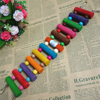 Wooden Various Size Parrot Ladder Bridge Pet Bird Toys with Hooks