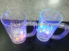 cheap plastic transparent LED light drink cup with handle
