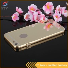 Shockproof luxury metal bumper frame + acrylic back case cover for iphone 6