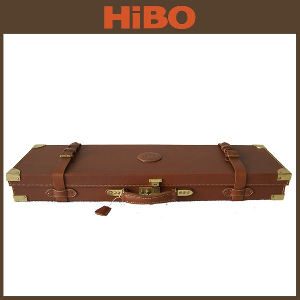 High Security Wooden Oak Gun Case with Key for sale