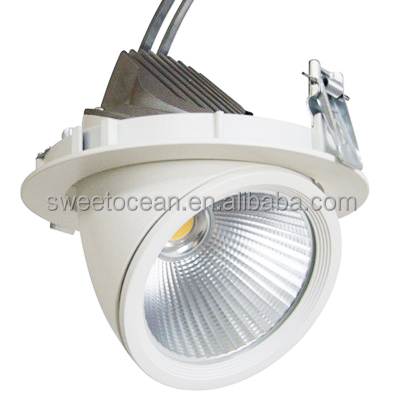 35w Dimmable Gimbal Directional Retrofit LED Recessed Lighting Fixture Ceiling COB Light Downlight
