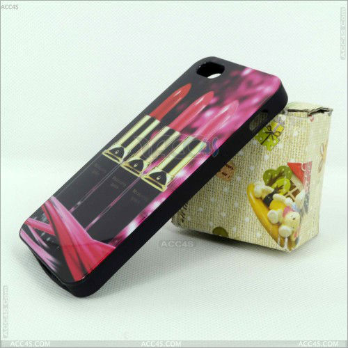 Dropshiping IMD case celular with lipstick printing for Apple iPhone 5 P-IPH5TPU0161