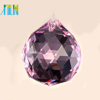 40mm high quality faceted crystal balls for light