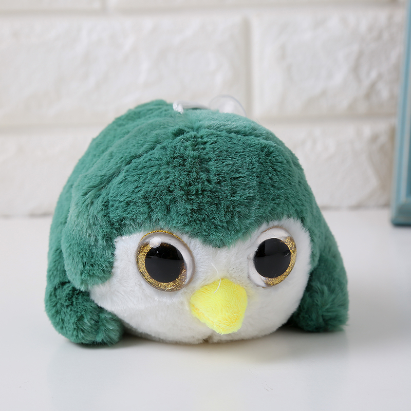 High quality hot sale stock long flush big eyes animal stuffed toy owl <strong>plush</strong> for kids