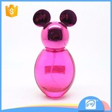 A1396-35ML packaging used pink color mickey shape perfume bottle designer