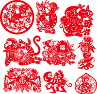 2016 Happy New Year Decal,Monkey Year Sticker