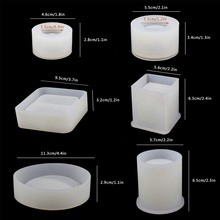 DIY Silicone Epoxy Resin Craft Mold for Coaster Flower Pot and Ashtray