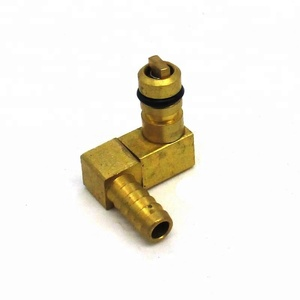 Hose Barb Elbow Brass check valve Co2 syrup Inlet fitting
