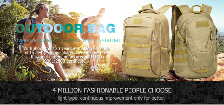 Waterproof 900D oxford fabric camouflage outdoor hiking trekking tactical backpack military bag