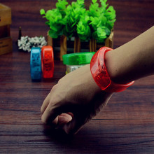Hot sale led bracelet flash wrist band glow bracelet light up bracelet well for christmas