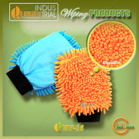 Hot sale Chenille Car Care Products strong detersive power car wiping gloves