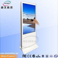 55inch free standing indoor touch screen kiosk totem lcd display monitor