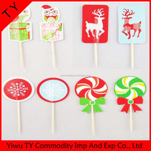 Wooden custom made decorative paper flags toothpick