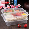 Wholesale Clear Plastic bento lunch box 3 compartment